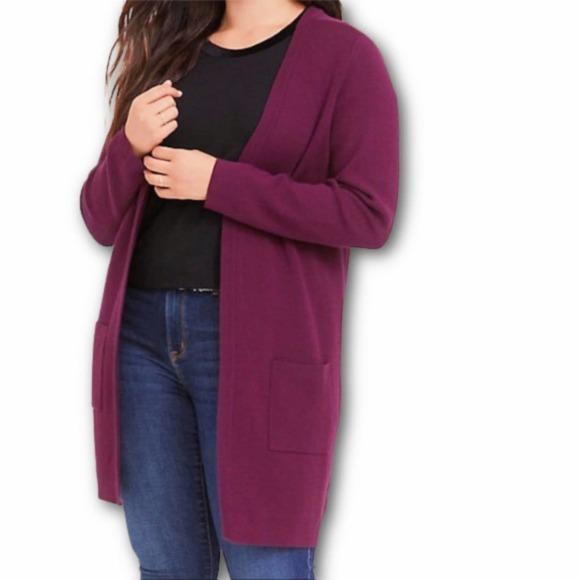 Torrid Open Front Cardigan Pocket Sweater (3X)